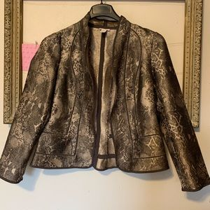 Chico's Snake Skin Looking Jacket Size O(4)